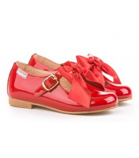 Francesitas charol & Satin bow 516 rojo